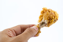 Crispy Fried Chicken. Isolated Over White background Royalty Free Stock Photography