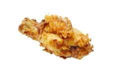 Crispy fried chicken leg on white background Stock Photo