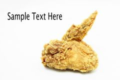 Crispy fried chicken wing Royalty Free Stock Photography