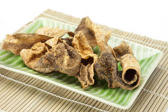 Crispy fried fish Skin with spices Stock Photography