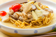 Crispy fried noodle Royalty Free Stock Image