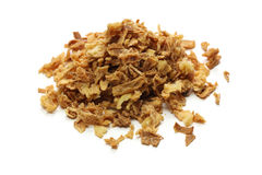 Crispy fried onion flakes Stock Photos