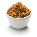 Crispy fried onion flakes Stock Photo