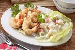 Crispy fried prawn cutlet stock photo