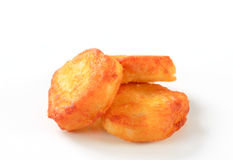 Crispy fritters. Crispy savory fritters - studio shot Stock Photography