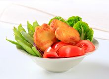 Crispy fritters with vegetables Royalty Free Stock Photo