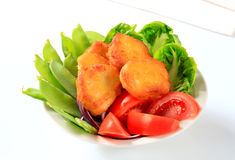 Crispy fritters with vegetables Royalty Free Stock Image