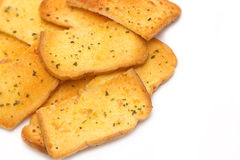 Crispy garlic bread Stock Photo