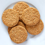 Crispy golden oat biscuits Stock Images