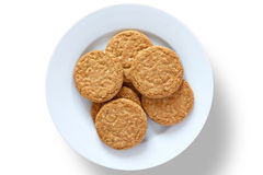 Crispy golden oat biscuits Royalty Free Stock Photography
