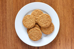 Crispy golden oat biscuits Stock Image