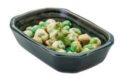 Crispy green peas stock photos