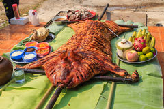 Crispy grilled suckling pig Royalty Free Stock Photography