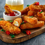 Crispy Halloumi cheese sticks Fries with Chili sauce for dipping. Crispy Halloumi cheese sticks Fries with Chili sauce for dipping Royalty Free Stock Photo