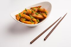 Free Crispy Honey Chilli Potatoes Are A Super Addictive Snack From Indian Chinese Cuisine Stock Images - 188139204