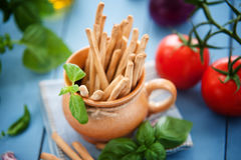 Crispy italian Grissini snack Stock Images