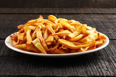 Crispy jack fruit chips fried in coconut oil. Royalty Free Stock Photo