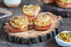 Crispy kartoflane róże Zdjęcie Royalty Free