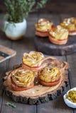 Crispy kartoflane róże Zdjęcie Stock