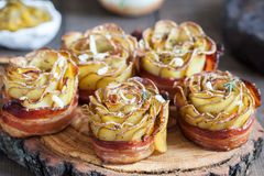 Crispy kartoflane róże Obraz Royalty Free