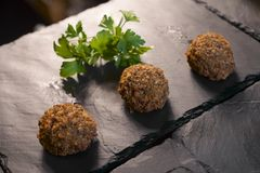 Crispy meatballs Stock Photo