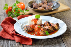 Crispy meatballs Royalty Free Stock Images