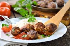 Crispy meatballs Stock Photos