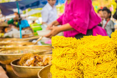 Crispy noodles are stacked Stock Photography