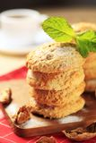 Crispy nut cookies Royalty Free Stock Photo