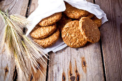 Crispy oat cookies and ears Stock Photography