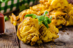Crispy Onion Bhaji Stock Photos