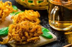 Crispy Onion Bhajis Royalty Free Stock Image