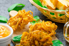 Crispy Onion Bhajis Royalty Free Stock Image