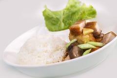 Crispy płatowaci wieprzowina ryż Obraz Stock