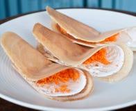 crispy pannkakor Fotografering för Bildbyråer