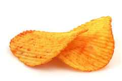 Crispy paprika chips Stock Photos
