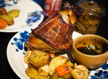 Crispy Pata - filipino style pork knuckle stock photography