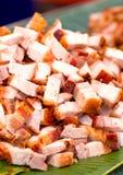 Crispy Pork With Banana Leaves. Royalty Free Stock Photos