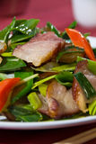 Crispy pork belly salad Stock Image