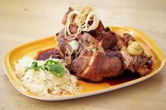 Crispy pork knuckle Royalty Free Stock Image