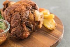 Crispy pork knuckle or German Pork Hocks Stock Images