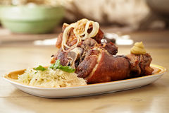 Crispy pork knuckle Stock Image