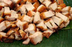 Crispy pork placed Stock Images