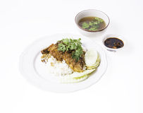 Crispy Pork on Rice Royalty Free Stock Photo