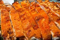 Crispy pork skin of grilled pork Royalty Free Stock Images