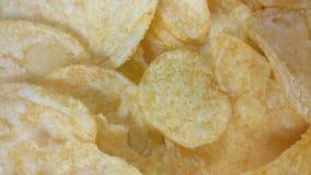 Crispy Potato chips stock video footage