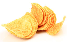 Crispy potato chips Stock Photos
