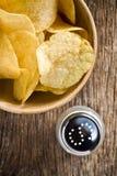 Crispy potato chips Stock Photo