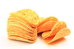 Crispy potato chips Stock Images