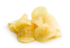 Crispy potato chips Royalty Free Stock Images